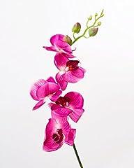 Idea Regalo - artplants Rametto di orchidea artificiale Phalaenopsis, real touch, fucsia, 90 cm - Orchidea finta/Fiore artificiale