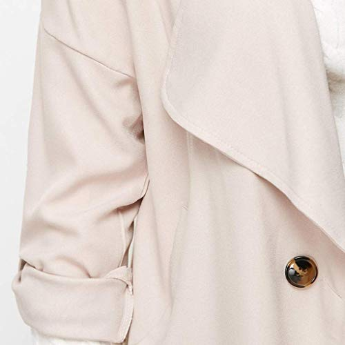 Coogel Womens Casual Blazers Work Office Open Front Long Sleeve Cardigan Jacket Suit Fashion Women Casual Plus Size Solid Color Loose Long Sleeve Button Tops Coat Beige Small (XXX-Large)