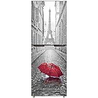 hll-036 Etiqueta Engomada del Refrigerador Armario Cubrir DIY Pegatina para Refrigerador Cubierta Completo Puerta Pared Calcomanía Pasillo Mural París En La Lluvia,60X180cm(23.6''X70.8'')