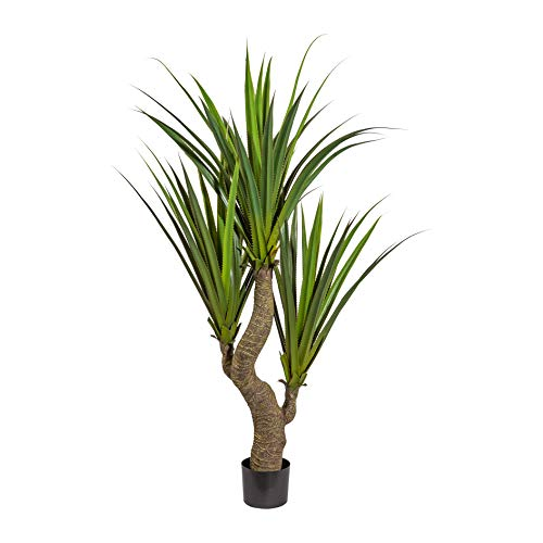 wohnfuehlidee Kunstpflanze Agave grün, mit Stamm, im Kunststoff-Topf, Höhe ca. 160 cm