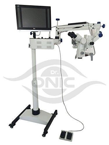 Dr.Onic Mikroskop für Chirurgenbetrieb, 3-stufig, Bodentyp, 45° Fixier-Fernglas, LED-Bildschirm, HD-Kamera, Strahlverteiler Bereich 5.2-grad-strahl