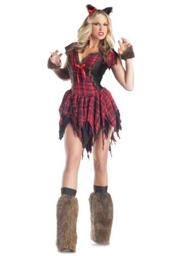 Sexy Werwolf Kostüm Halloween Horror Karneval Verkleidung Damen Extra (Sexy Werwolf Kostüme)