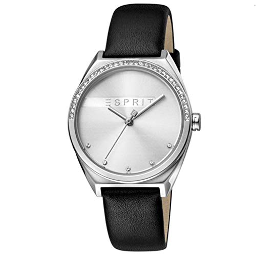 Esprit Damen Analog Quarz Uhr mit Leder Armband ES1L057L0015