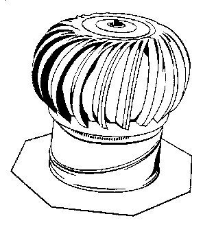 Turbine Vent (Air Vent #52610 12 Intern Turbine/Base by Air Vent)