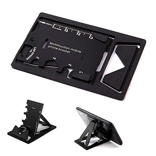 Outil multifonction pour carte de crédit et porte-clés - Élégant et minimaliste - En acier inoxydable - Outils à main - Kit décapsuleur