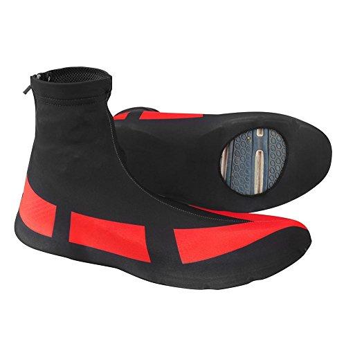 Dilwe 1 Paar Radfahren Überschuhe Schuhe Abdeckung Outdoor Sports Bike Shoes Covers Wasserdichte Wärmer für Mountain Road Radfahren Aktivität(XL) - Wind Shoe Cover
