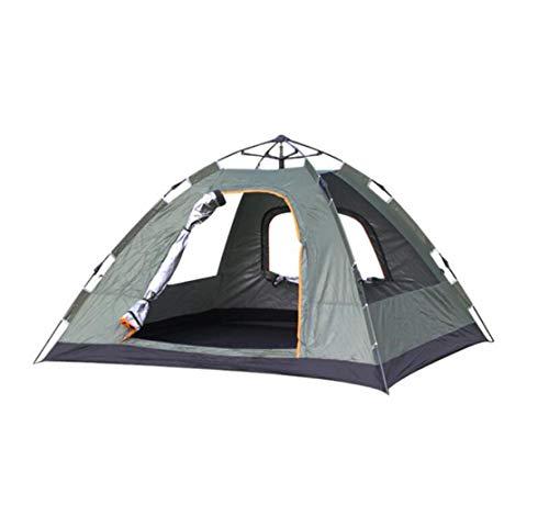 JBHURF Doppelter 2-4 Familienzelt Regen- und mottenfester Frühling Automatische Geschwindigkeit Geöffnetes Zelt, zum der Feuchtigkeits-Matte zu senden (Farbe : Dunkelgrün)