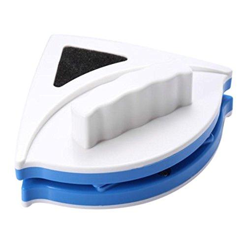Kicode Limpiador magnético fuerte del limpiador de cristal de la ventana del lado doble Limpiador limpiaparabrisas de la ventana del triángulo de la capa dual para 3-8mm Acristalamiento doble