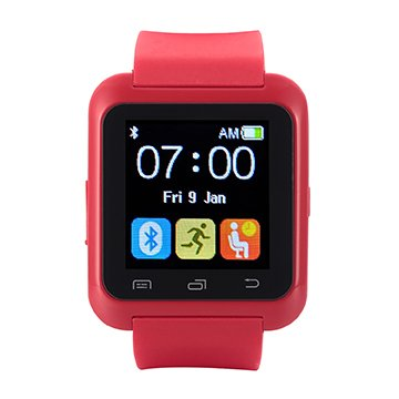 [ Dernière Android Smartwatch Bluetooth 4.0 ] EasySMX Multi-Languages Smart Bande Watch Smart watch avec Ecran Tactile Montre Intelligent Support Android Smartphones Including Samsung, HTC, Sony idéal cadeau pour Amis, Enfant, Parent (Rouge)
