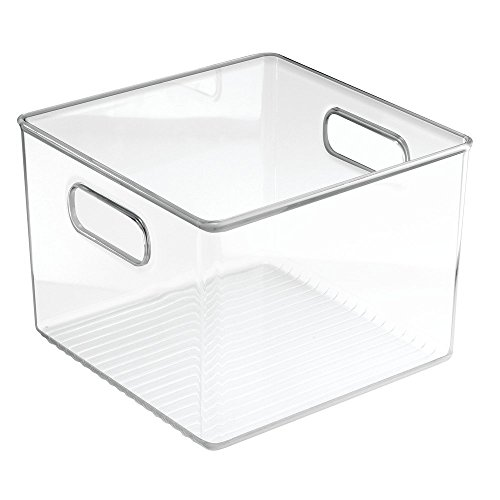InterDesign Linus Bathroom Cabinet Health and Beauty Supplies Organizer - Square, Clear
