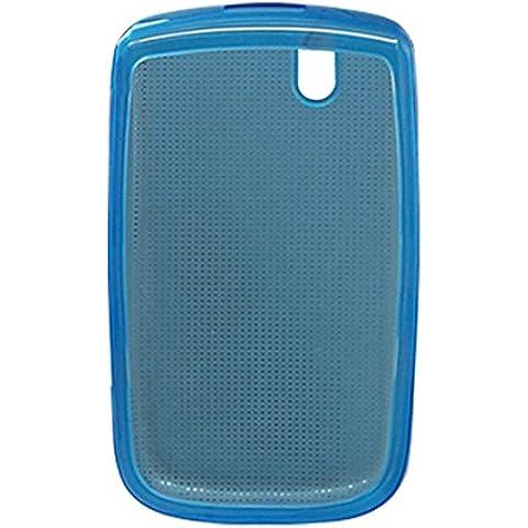 Azul de plástico blando caso protector para Blackberry 9630