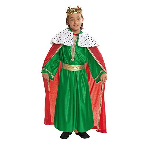 VIVING Costume Re Mago verde5–6anni