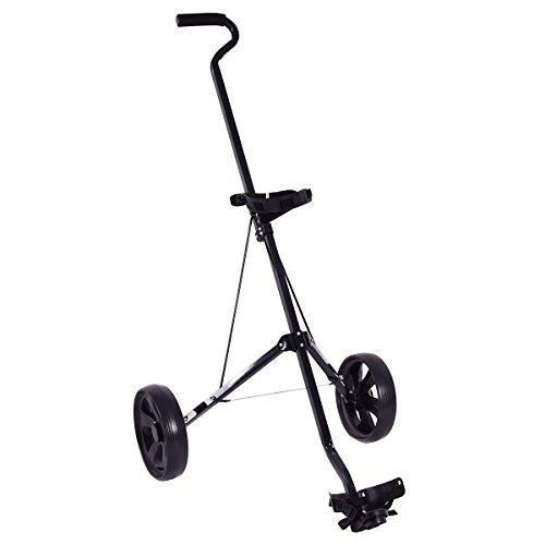 COSTWAY Golf Trolley Golfwagen Golfcaddy Golf Cart mit 2 Rädern schwarz