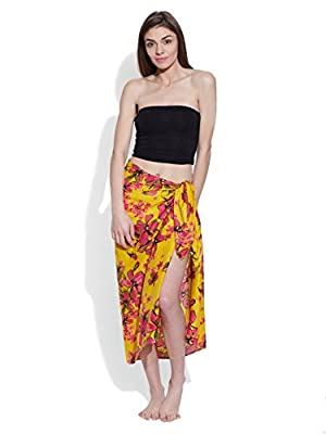 Very Me Women's Cotton Printed Voile Sarong Size:- Standard / Na (Green)