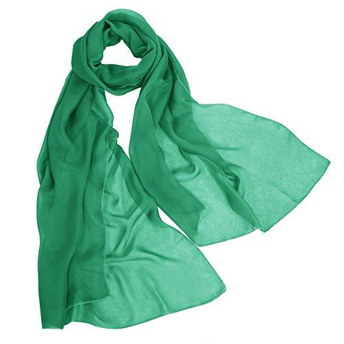 bbonlinedress Schal Chiffon Stola Scarves in verschiedenen Farben Green 180cmX72cm (Seide Grün Schal)
