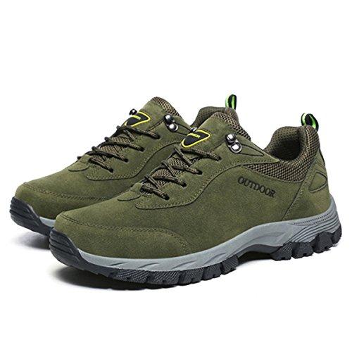 gracosy Sportschuhe, Trekking-Schuhe Unisex Wanderschuhe Halbschuhe Laufschuhe Sneaker Traillaufschuhe Bequeme Turnschuhe für Herren Damen Grün 40