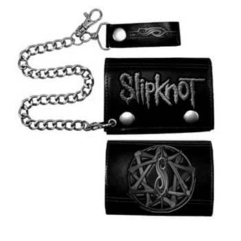 Slipknot - - Portefeuille de la chaîne Star In Black Bone, O/S, Black
