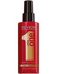 REVLON PROFESSIONAL UNIQONE Masque en Spray sans Rinçage pour tous Types Cheveux 10 Bienfaits Rouge Classique, 150ml
