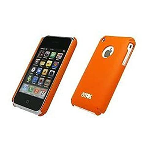 Premium Orange Gummiertes Snap Slide On Back Schutzhülle Case Protector