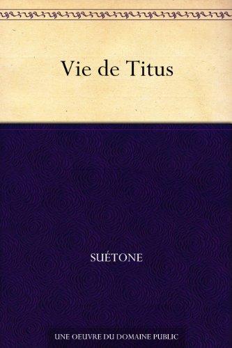 Couverture du livre Vie de Titus
