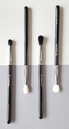 Pro Blending Brush Set - Smoky Eye Shadow Contour Kit - 4 Essential Shapes - Best Choice Crease, All Over Shader, Tapered Soft Blender - Shading & Blending of Eyeshadow Makeup Cream Powder Highlighter