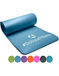Esterilla para fitness »Yogini« / gruesa y suave, perfecta para pilates, gimnasia y yoga / Medidas: 183 x 61 x 1 cm / azul cielo