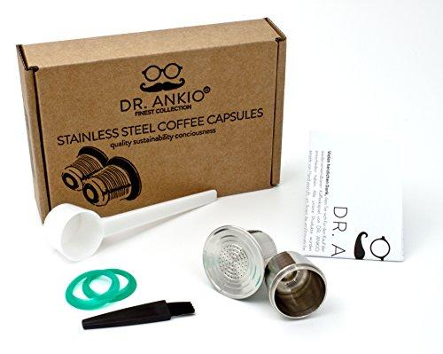 Wiederverwendbare Nespresso Kapseln aus Edelstahl, Umweltschonend im Ökopack von DR. ANKIO