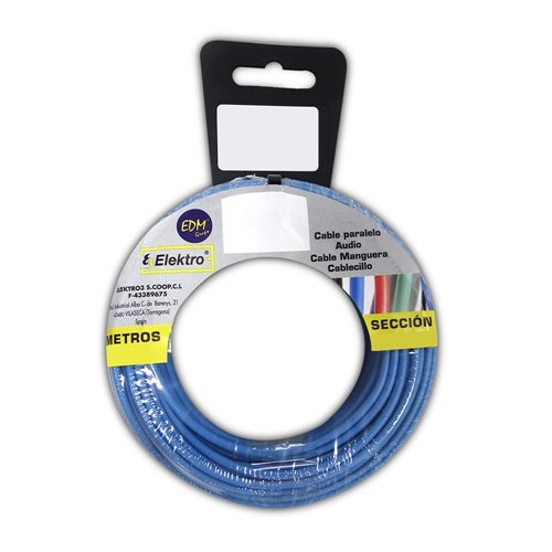 Angelrolle cablecillo flexibel 4 mm blau 25 mts. libre-halogeno