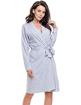 dn-nightwear -  Accappatoio  - Donna grigio L