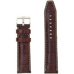 "ZRC 559 ""Indiana"" Handmade Genuine Leather Watch Strap, Brown, 28mm"