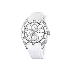 Reloj de mujer FESTINA F16394-1 de cuarzo, correa de caucho color blanco de Festina