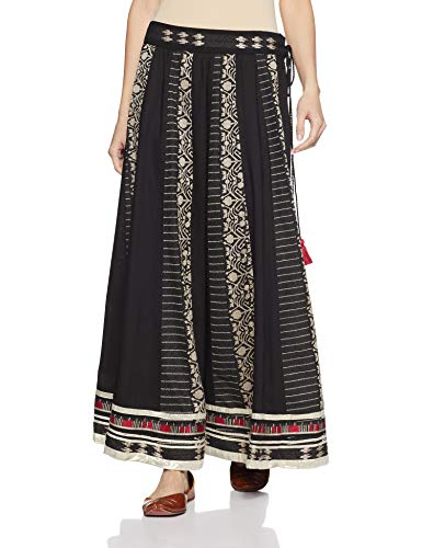 W for Women Full Maxi Skirt (18FE55400-11617_Black_WL)