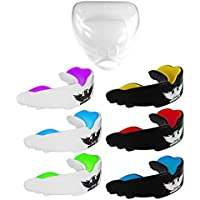 UK Warrior Gum Shield Mouth Guard Gum Guard Gumshield - Ideal For Contact Sports, Martial Arts, Karate, Rugby, MMA, Boxing, Hockey, Football - Carry Case - Instructions For Boil & Bite - 100% Money Back Guarantee