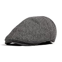 212ebf6983bd9 WITHMOONS Sombreros gorras Boinas Bombines Wool Newsboy Hat Flat Cap SL3021