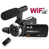 Videocámara WiFi Camara de Video HD 1080P 30FPS 24.0MP Cámara Web...