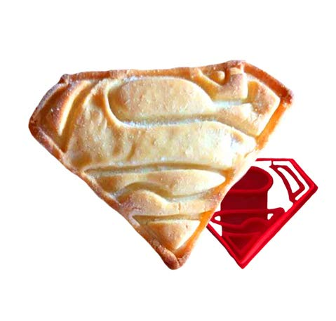 ter Superman Kunststoff Form für Backen Shortbread und biskuitteig Gebäck Stempel Cupcake Topper Fondant Cutter ()