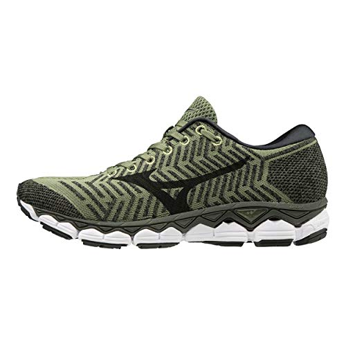 Mizuno Men Waveknit S1 Neutral Running Shoe Running Shoes Olive - Khaki 10