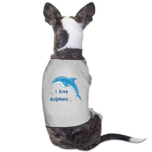 Hunde Kostüm Delfin - GSEGSEG I Love Delfine Hunde-Kostüm für Hunde und Katzen, aus Polyester