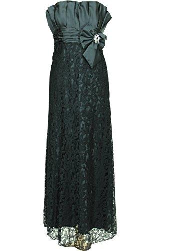 JuJu & Christine Langes Kleid Abendkleid Ballkleid Cocktailkleid (A2052) mit Stola schwarz Gr. 38