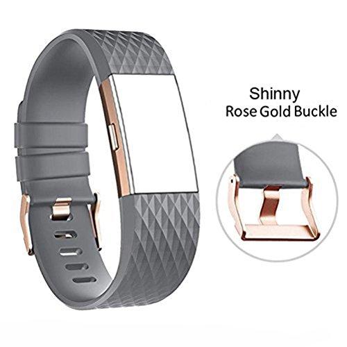 Armband für Fitbit Charge 2 Classic Fitness Ersatz Zubehör Silikon Wristband für 2016 Charge 2 (Dd-band)