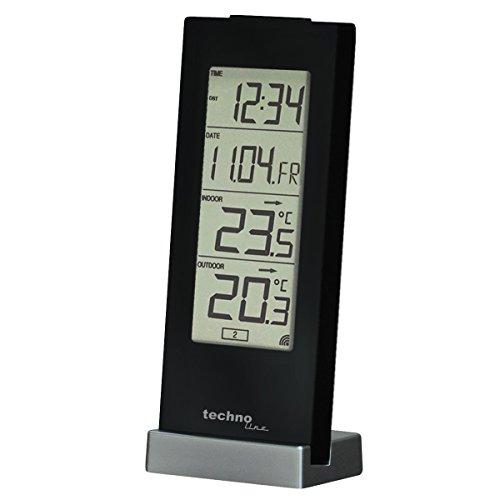 Technoline Wetterstation WS 9767 mit Funkuhr und Innen- und Außentemperaturanzeige