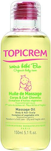 Topicrem Huile de Massage Bio pour Bébé 150 ml