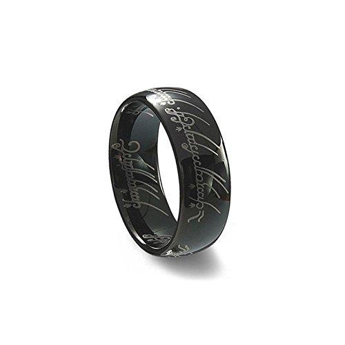 Anello del Potere del Signore degli Anelli versione NERO taglia 9 - Sauron Lord of the Ring HIGH QUALITY