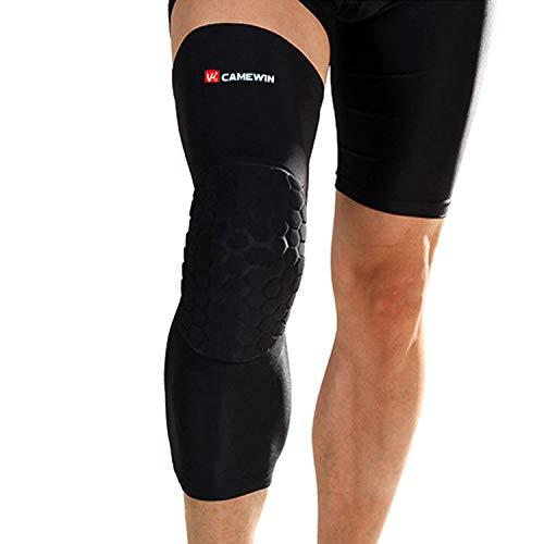 Knieschoner für Erwachsene, stützt Beine, Knieschoner, Wadenstütze, Snowboard-Kniepolster, Schwarz, M