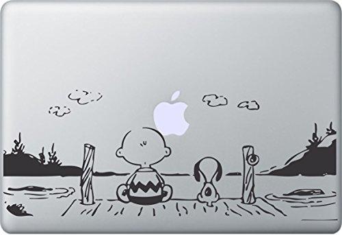 MacDecalDE SNOOPY PEANUTS SUNSET kompatibel mit/Ersatz für Apple MacBook Air Pro Auto Aufkleber Sticker Skin Decal (Macbook Air Laptop Aufkleber)