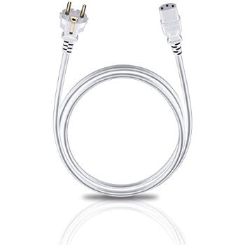 Oehlbach 17043 Câble d'alimentation 1,5 m Blanc