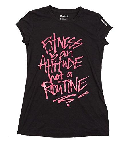 Reebok t-shirt pour femme gT fTS aTTITUDE Noir - Noir