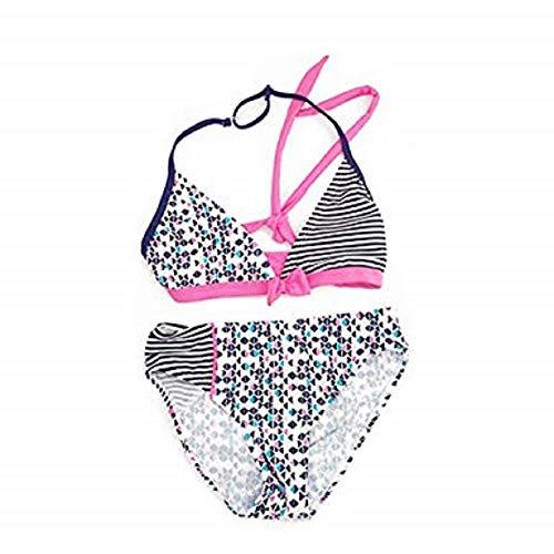 IPBEN Badeanzug Mädchen, Schlinge Bikinis für Kindere Zweiteiliger Quaste Badekleidung Schwimmanzug Bikini Sets (128, Stripe)