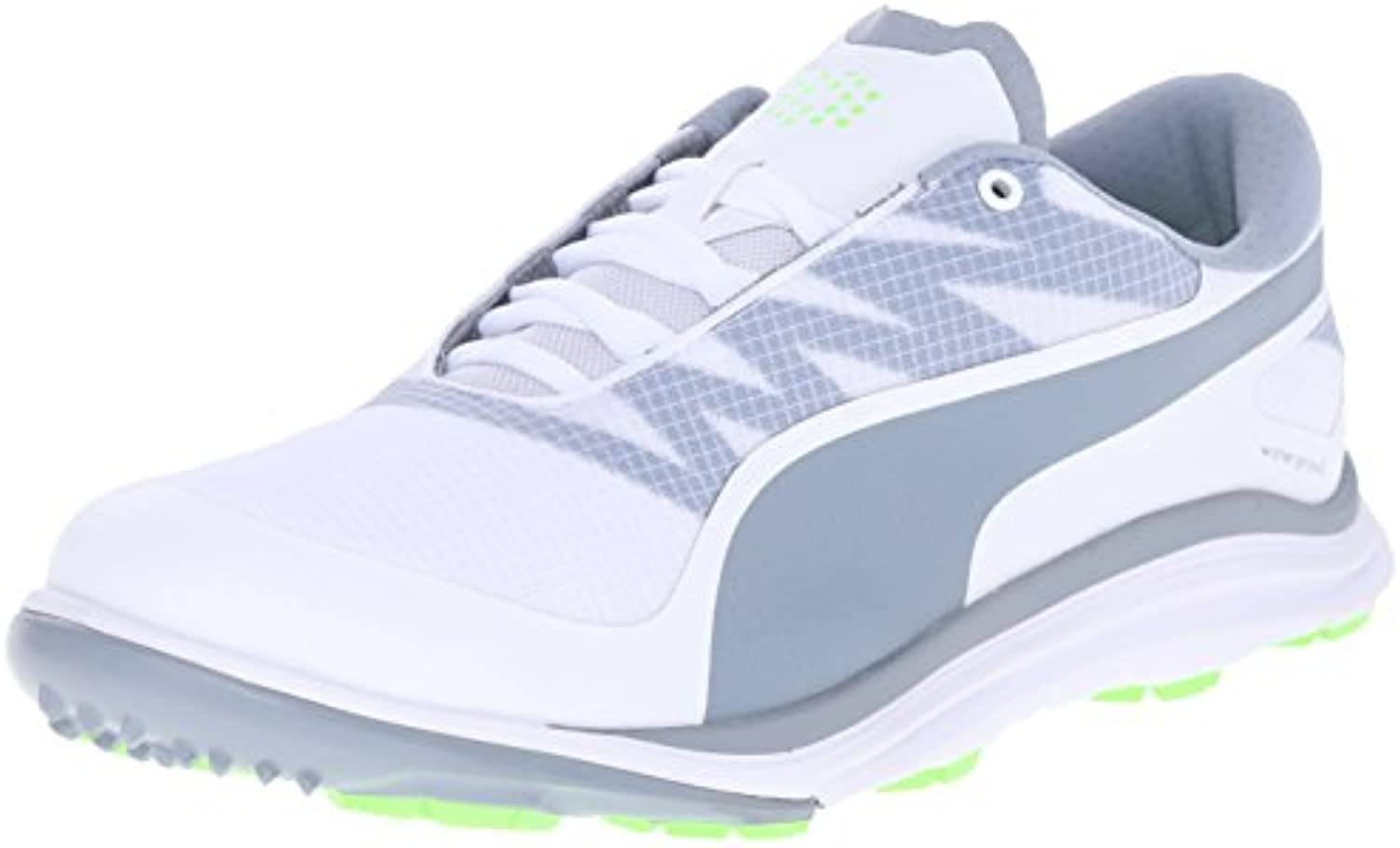 PUMA Men's BioDrive Golf Shoe  White/Tradewinds/Grey  10 M US
