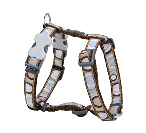 Red Dingo Desinger Dog Harness, Circadelic Brown (25mm x (Neck: 46-76cm / Body 56-80cm) L